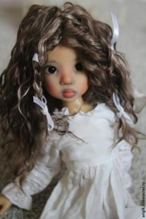 Куклы и игрушки ручной работы. Ярмарка Мастеров - ручная работа. Купить Парик для куклы. Handmade. Разноцветный, волосы для куклы, кудри