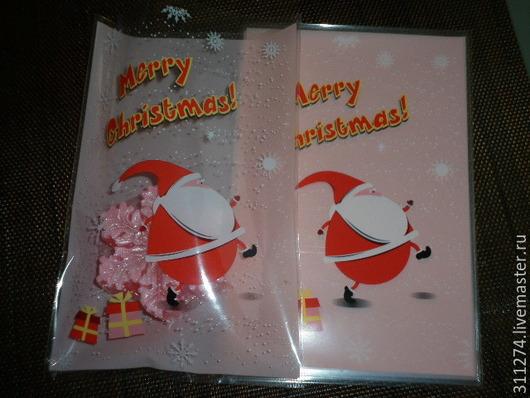 Упаковка ручной работы. Ярмарка Мастеров - ручная работа. Купить Новогодний пакет для упаковки  подарка.. Handmade. Разноцветный, упаковка для мыла