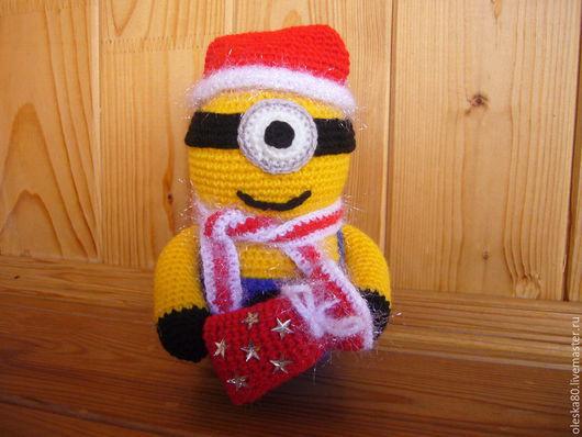 Новый год 2017 ручной работы. Ярмарка Мастеров - ручная работа. Купить Игрушка Миньон-снеговик (Гадкий Я). Handmade. Желтый