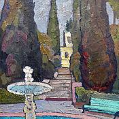 Картины и панно handmade. Livemaster - original item Pictures: Oil painting. South Alley. Handmade.