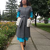 Женское пальто с коротким рукавом