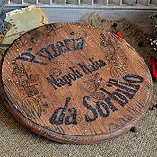 Для дома и интерьера ручной работы. Ярмарка Мастеров - ручная работа Доска для пиццы «Pizzeria da Sorbillo». Handmade.