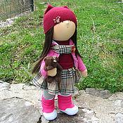 Куклы и игрушки ручной работы. Ярмарка Мастеров - ручная работа Кукла интерьерная Интерьерная кукла Кукла с мишкой. Handmade.