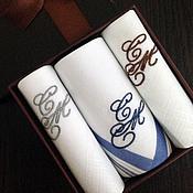 Аксессуары handmade. Livemaster - original item Handkerchiefs men`s Luxury embroidery Monogram Set. Handmade.