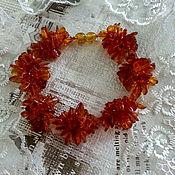 Украшения handmade. Livemaster - original item Bracelet made of Amber - hedgehogs. Handmade.