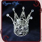 "Свадебный салон ручной работы. Ярмарка Мастеров - ручная работа корона ""Царица"". Handmade."