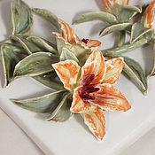 Для дома и интерьера handmade. Livemaster - original item Lilies - tile tiles/panels. Handmade.