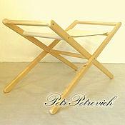 """Для дома и интерьера ручной работы. Ярмарка Мастеров - ручная работа """"Стэди"""" подставка для люльки деревянная раскладная. Handmade."""