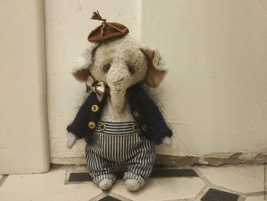 Мишки Тедди ручной работы. Ярмарка Мастеров - ручная работа. Купить Тедди слон. Папа-слон. Handmade. Голубой
