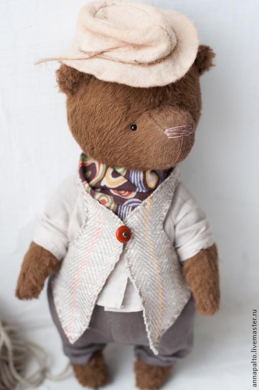 мишка тедди,  Анна Палто, на фото мишка тедди в стиле Бохо, мишка тедди в одежде,  мишка  мальчик, Ярмарка мастеров
