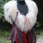 Одежда ручной работы. Ярмарка Мастеров - ручная работа Жилет из меха,меховой жилет . Авторский жилет из меха ламы.. Handmade.