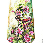 Аксессуары ручной работы. Ярмарка Мастеров - ручная работа Галстук Фея цветов. Handmade.