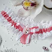 Свадебный салон ручной работы. Ярмарка Мастеров - ручная работа СКИДКА Свадебная подвязка для невесты TENDER PINK. Handmade.