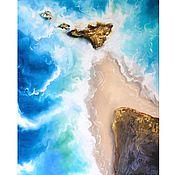 Картины и панно handmade. Livemaster - original item Seascape Lagoon oil Painting sea. Handmade.