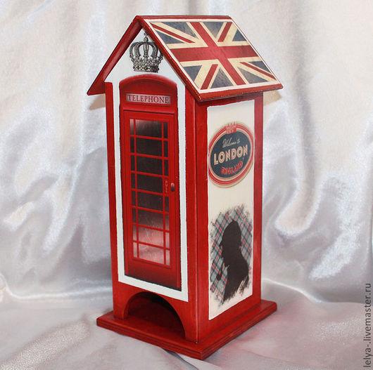 Кухня ручной работы. Ярмарка Мастеров - ручная работа. Купить Чайный домик Лондон. Handmade. Ярко-красный, английский стиль