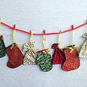 """Подарки ручной работы. Ярмарка Мастеров - ручная работа Адвент-календарь """"Семь дней до Нового года"""". Handmade."""
