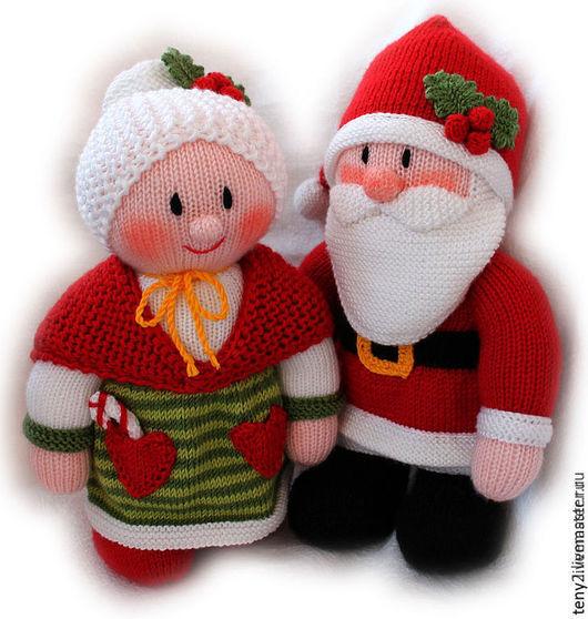 Новый год 2017 ручной работы. Ярмарка Мастеров - ручная работа. Купить Санта и Миссис Клаус. Handmade. Ярко-красный