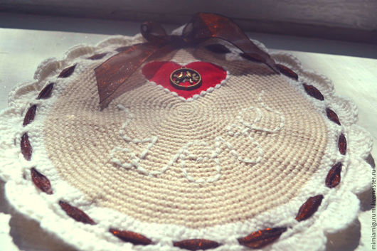 """Кухня ручной работы. Ярмарка Мастеров - ручная работа. Купить Прихватка, подставка для горячего """"LOVE"""". Handmade. Комбинированный"""