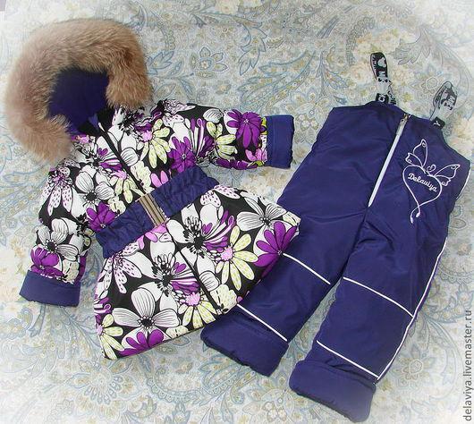 """Одежда для девочек, ручной работы. Ярмарка Мастеров - ручная работа. Купить Зимний/демисезонный комплект """"Flowear"""" - 2. Handmade. Цветочный"""
