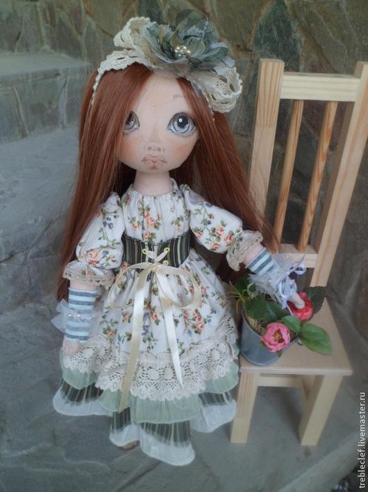 Коллекционные куклы ручной работы. Ярмарка Мастеров - ручная работа. Купить Кукла с цветами. Handmade. Бежевый, куклы и игрушки