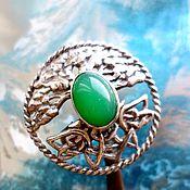 """Украшения ручной работы. Ярмарка Мастеров - ручная работа """"Celtic"""" природный хризопраз, серебро 925. Handmade."""