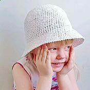 Аксессуары handmade. Livemaster - original item Raffia hat for children. Straw summer hat.. Handmade.