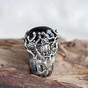 """Украшения handmade. Livemaster - original item Серебряное кольцо """"ТЭЙПА"""" с черным ониксом. Handmade."""