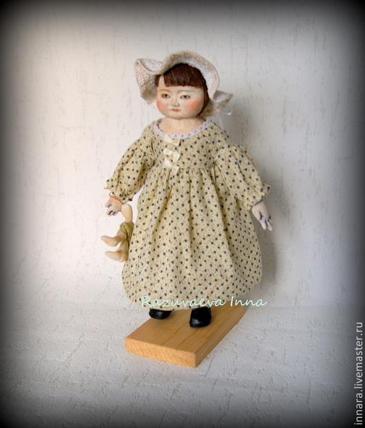 Человечки ручной работы. Ярмарка Мастеров - ручная работа. Купить Кукла Юлька.. Handmade. Бежевый, куклы-дети