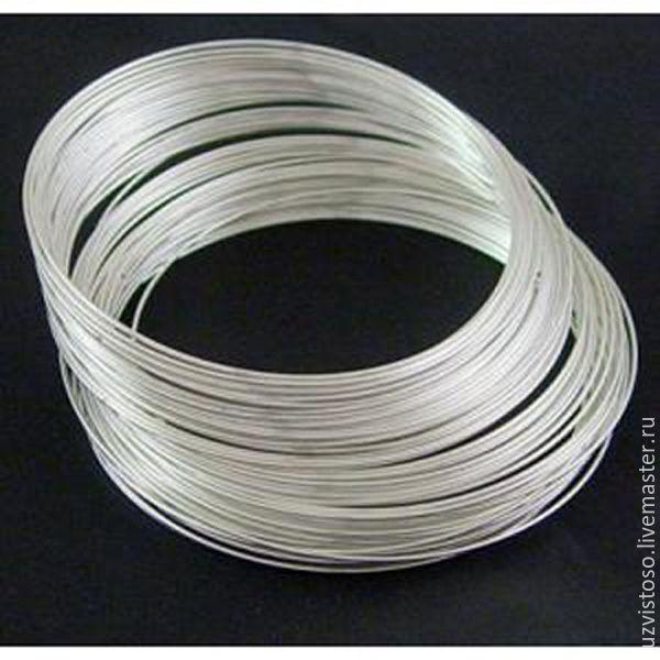 Серебряная проволока 0.6 мм (серебро 925 пробы)