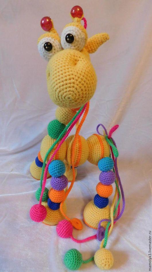 Развивающие игрушки ручной работы. Ярмарка Мастеров - ручная работа. Купить Слинго жираф. Handmade. Комбинированный, пластиковые глазки