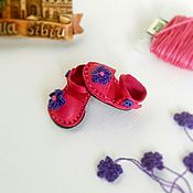 Одежда для кукол ручной работы. Ярмарка Мастеров - ручная работа Туфли для куклы Блайз ярко-розовые Барвинок. Handmade.