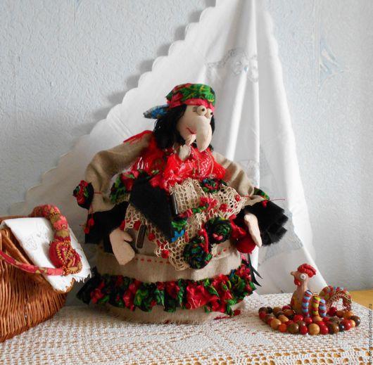 Кухня ручной работы. Ярмарка Мастеров - ручная работа. Купить Баба Яга. Кукла для веселого чаепития. Баба на чайник.. Handmade.