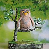 Для дома и интерьера ручной работы. Ярмарка Мастеров - ручная работа Сова.. Сижу на дереве.. Handmade.