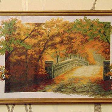 """Картины и панно ручной работы. Ярмарка Мастеров - ручная работа Картина """"Осенний мост"""". Handmade."""