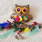 Мягкие игрушки ручной работы. Ярмарка Мастеров - ручная работа Мягкие игрушки: Золотая Сова. Handmade.
