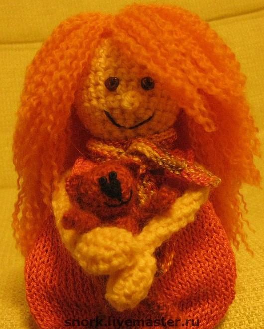 """Человечки ручной работы. Ярмарка Мастеров - ручная работа. Купить Полли  """"Оранжевое настроение"""". Handmade. Интерьерная кукла, подарок, хлопок"""