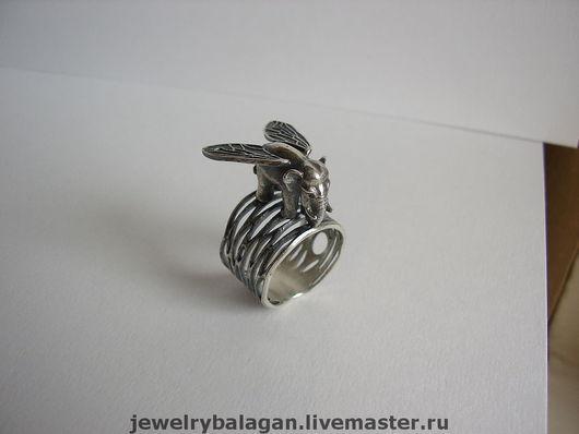 """Кольца ручной работы. Ярмарка Мастеров - ручная работа. Купить Кольцо """"Муха Слон"""". Handmade. Слон, крылья, слоник, шутка"""