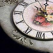"""Для дома и интерьера ручной работы. Ярмарка Мастеров - ручная работа Часы настенные """"Розы для Алисы"""". Handmade."""