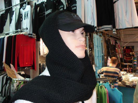 """Капюшоны ручной работы. Ярмарка Мастеров - ручная работа. Купить шарф-капюшон """"Горожанин"""" унисекс. Handmade. Капюшон, шарф женский"""
