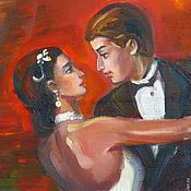 Картины и панно ручной работы. Ярмарка Мастеров - ручная работа Страстное танго, картина маслом. Картина для гостиной. Handmade.