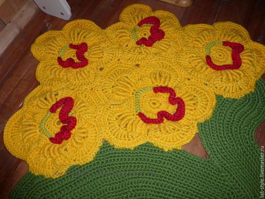 Текстиль, ковры ручной работы. Ярмарка Мастеров - ручная работа. Купить Ковер из цветов вязаный. Handmade. Ковер