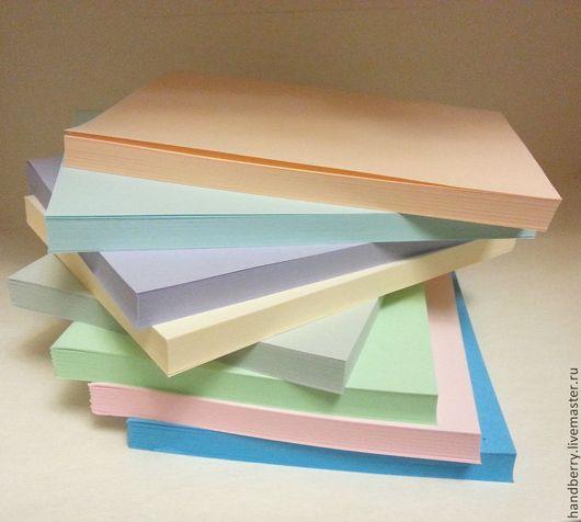 Открытки и скрапбукинг ручной работы. Ярмарка Мастеров - ручная работа. Купить Блоки для блокнотов А6 цветные. Handmade. Внутренний блок