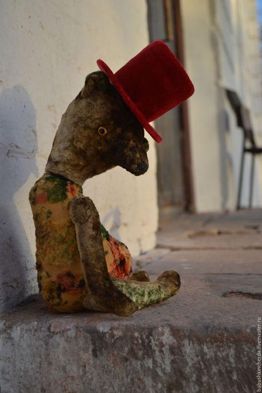 Мишки Тедди ручной работы. Ярмарка Мастеров - ручная работа. Купить Ричард. Handmade. Оливковый, мишка, плюш винтажный