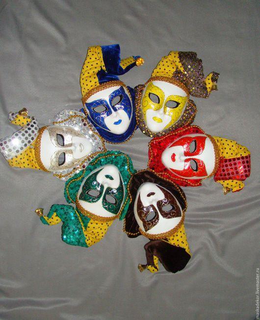 Интерьерные  маски ручной работы. Ярмарка Мастеров - ручная работа. Купить Мини Арлекины. Handmade. Комбинированный, подарок, декоративные маски