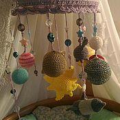 """Мягкие игрушки ручной работы. Ярмарка Мастеров - ручная работа Мобиль для детской кроватки """"Солнечная система"""". Handmade."""