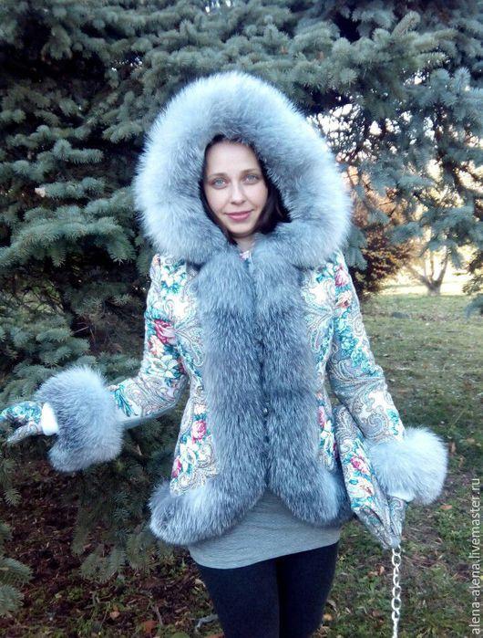 """Верхняя одежда ручной работы. Ярмарка Мастеров - ручная работа. Купить Зимнее пальто """" Дивный сон"""".. Handmade. Разноцветный"""