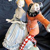 Винтаж handmade. Livemaster - original item HARLEQUIN and COLUMBINE porcelain GERMANY KARL ENS BALLET. Handmade.