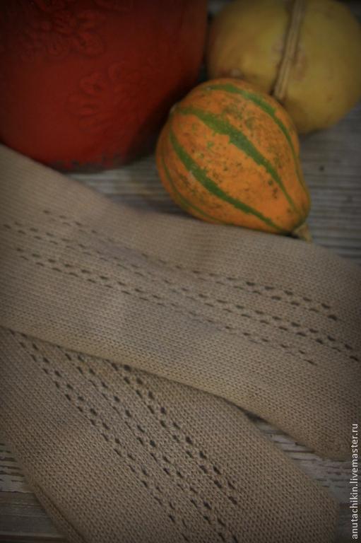 Варежки, митенки, перчатки ручной работы. Ярмарка Мастеров - ручная работа. Купить кашемировые рукавицы с ажурными мережками. Handmade. Бежевый