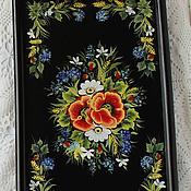 Для дома и интерьера handmade. Livemaster - original item Tray table with painting