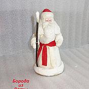 Винтаж ручной работы. Ярмарка Мастеров - ручная работа Дед Мороз ватный маленький с красным, г Калинин. Handmade.